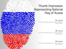 Thumb Impression Representing National Flag Of Russia