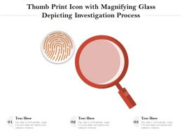 Thumb Print Icon With Magnifying Glass Depicting Investigation Process