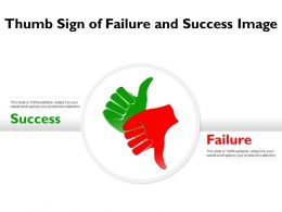 Thumb Sign Of Failure And Success Image