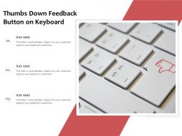 Thumbs Down Feedback Button On Keyboard