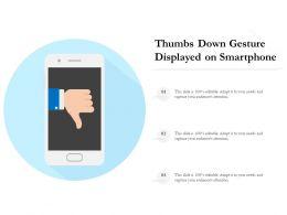 Thumbs Down Gesture Displayed On Smartphone