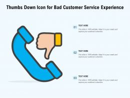 Thumbs Down Icon For Bad Customer Service Experience