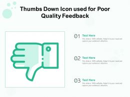 Thumbs Down Icon Used For Poor Quality Feedback