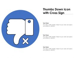 Thumbs Down Icon With Cross Sign