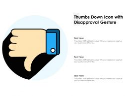 Thumbs Down Icon With Disapproval Gesture