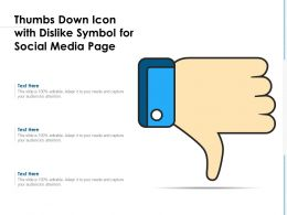 Thumbs Down Icon With Dislike Symbol For Social Media Page