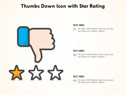 Thumbs Down Icon With Star Rating