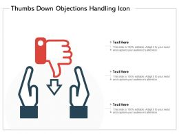 Thumbs Down Objections Handling Icon