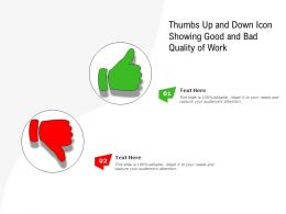 Thumbs Up And Down Icon Showing Good And Bad Quality Of Work