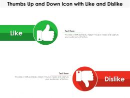 Thumbs Up And Down Icon With Like And Dislike