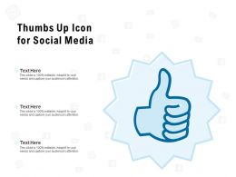 Thumbs Up Icon For Social Media