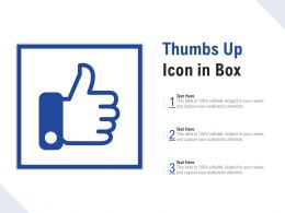 Thumbs Up Icon In Box