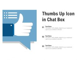 Thumbs Up Icon In Chat Box