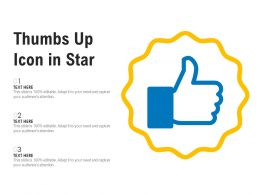 Thumbs Up Icon In Star