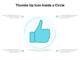 Thumbs Up Icon Inside A Circle