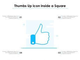Thumbs Up Icon Inside A Square