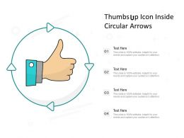 Thumbs Up Icon Inside Circular Arrows