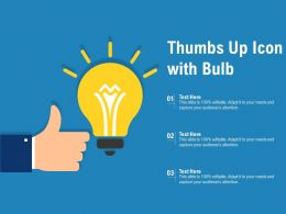 Thumbs Up Icon With Bulb