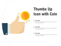 Thumbs Up Icon With Coin