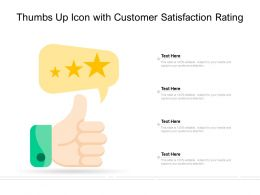 Thumbs Up Icon With Customer Satisfaction Rating