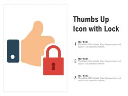 Thumbs Up Icon With Lock