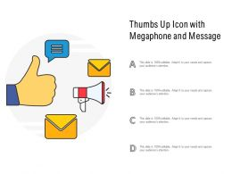 Thumbs Up Icon With Megaphone And Message