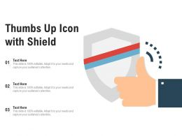 Thumbs Up Icon With Shield