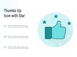 Thumbs Up Icon With Star