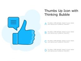 Thumbs Up Icon With Thinking Bubble