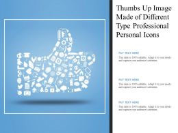 Thumbs Up Image Made Of Different Type Professional Personal Icons