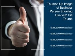 Thumbs Up Image Of Business Person Showing Like With His Thumb