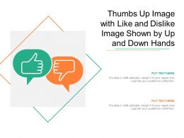 Thumbs Up Image With Like And Dislike Image Shown By Up And Down Hands