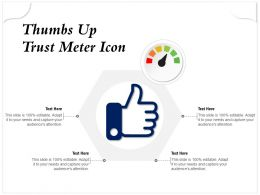 Thumbs Up Trust Meter Icon