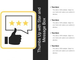 Thumbs Up With Star And Message Box