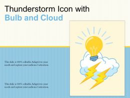 Thunderstorm Icon With Bulb And Cloud