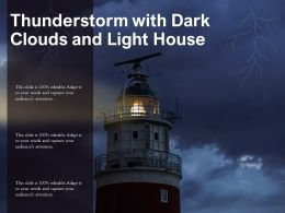 Thunderstorm With Dark Clouds And Light House