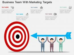 ti Business Team With Marketing Targets Flat Powerpoint Design