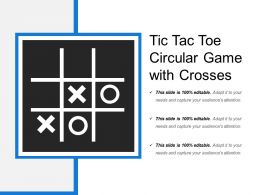 Tic Tac Toe Circular Game With Crosses