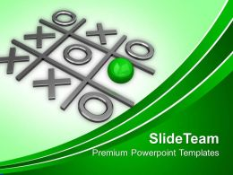 Tic Tac Toe Competition Powerpoint Templates Ppt Themes And Graphics 0113