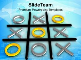 Tic Tac Toe Competition Winner Powerpoint Templates Ppt Themes And Graphics 0313