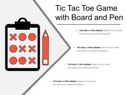 Tic Tac Toe Game With Board And Pen