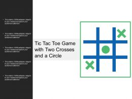 Tic Tac Toe Game With Two Crosses And A Circle