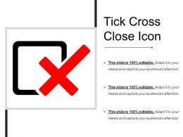 Tick Cross Close Icon