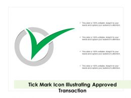 Tick Mark Icon Illustrating Approved Transaction