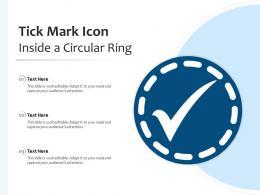Tick Mark Icon Inside A Circular Ring