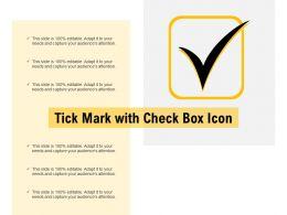 Tick Mark With Check Box Icon