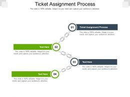 Ticket Assignment Process Ppt Powerpoint Presentation Layouts Elements Cpb