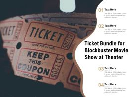 Ticket Bundle For Blockbuster Movie Show At Theater