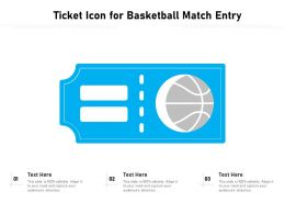 Ticket Icon For Basketball Match Entry