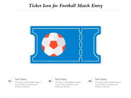 Ticket Icon For Football Match Entry